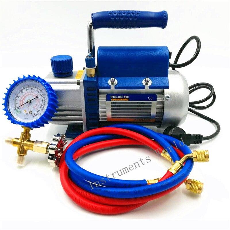 150W Vacuum Pump FY-1H-N Air Conditioni Add Fluoride Tool Vacuum Pump Set With Refrigerant Table Pressure Gauge Refrigerant Tube